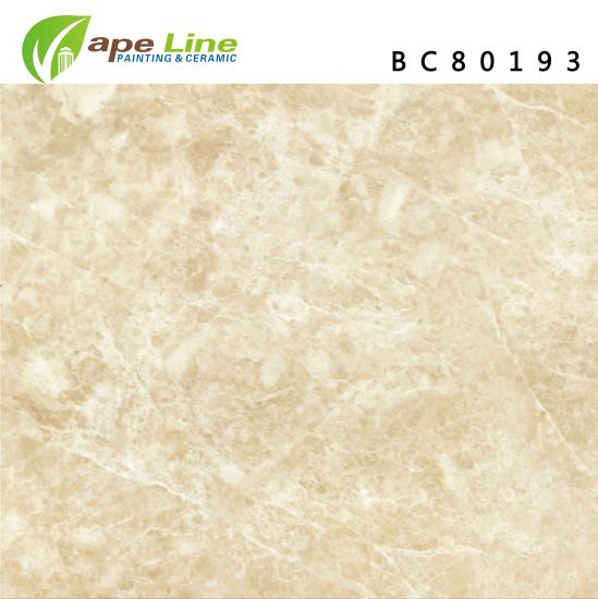 Cream-Colored Rock Soft Light Glazed Wall Glossy Beige Marble Floor Tiles  (800 X 800 mm)