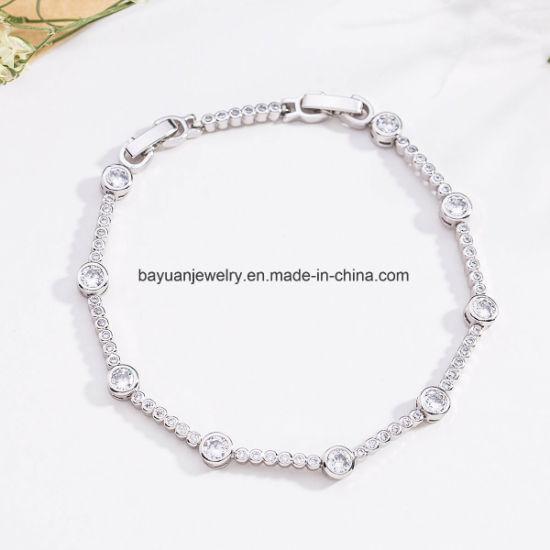 4ab9dd2711dda China Square Princess Cut White Cubic Zirconia Tennis Bracelet in ...