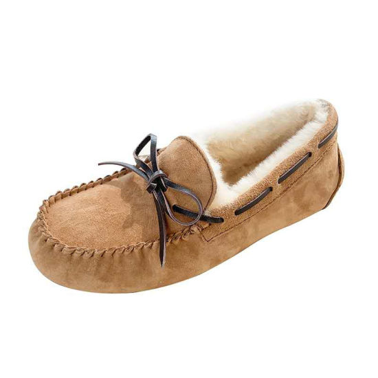 2020 Australian Sheep Fur Integrated Beanie Shoes for Women and Velvet Snowshoes