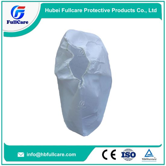 Disposable Non Woven Anti Slip Water Proof Boot Covers with CPE Sole/Microporous Shoecover/Bootie Cover pictures & photos