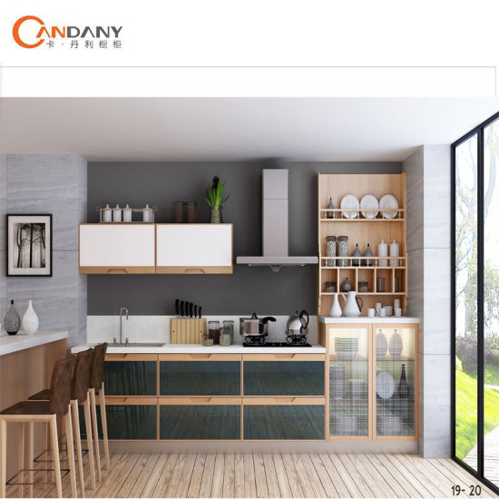 China Hotel Furniture Acrylic Door Panel Kitchen Cabinet Flat Pack