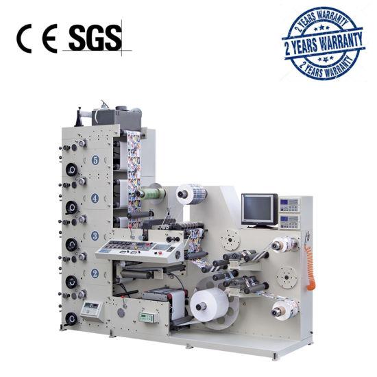 AC320-4B Adhesive Paper Label Flexographic Printing Machine