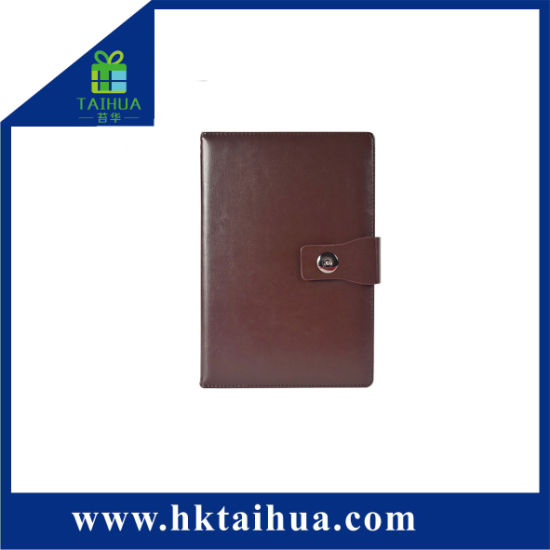 A5 PU Leather Hardcover Business School Office Notebook with Elastic Strap Button