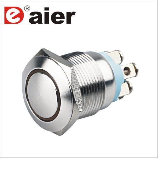 19mm Illuminated Waterproof LED Metal Stainless Steel Push Button Switch