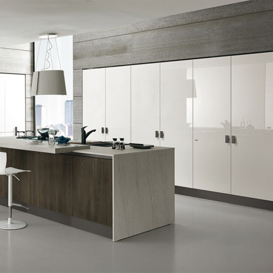 Modular Latest Kitchen Designs MDF Lacquer Finish Kitchen Cabinet
