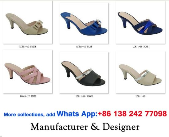 5545a899f6 Women High Block Heels Casual Sandals Dress Lady Slingback Shoes. Get  Latest Price