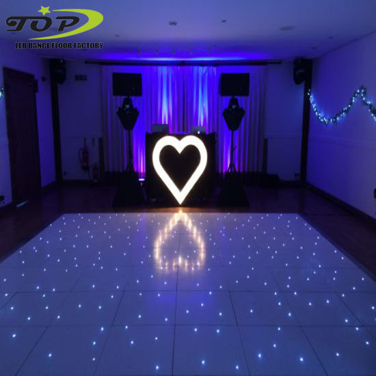 Outdoor Black and White Party Dancing Romantic Starlit Effects Projection Wedding Dance Floor Hire UK