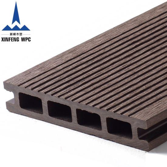 25mm WPC Decking 3D Deep Embossing Outdoor Flooring