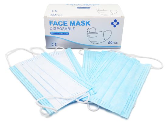 3-Ply Non-Woven Surgical Face Mask, Disposable Face Mask
