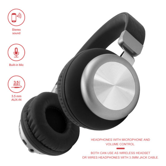 China Premium Heavy Bass On Ear Wireless Headset Bluetooth Headphone Mobile Phone Earphone With Mic Mutiple Function For Pc Tablet Cell Phone China Bluetooth Headphone Earphone Headset And Bluetooth Earphone Earbuds