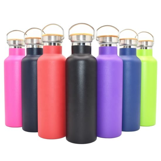 500ml Wholesale Best Selling Insulated Stainless Steel Vacuum Flask with Bamboo Lid