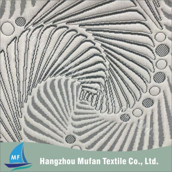 Modern Design Knitted Jacquard Fabric Spun Polyester Fabric Mattress Fabric