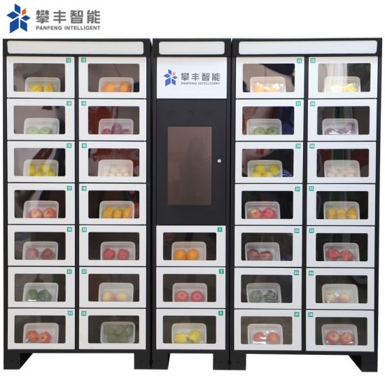 Smart Combo Coin Operated Fresh Vegetables Vending Machine