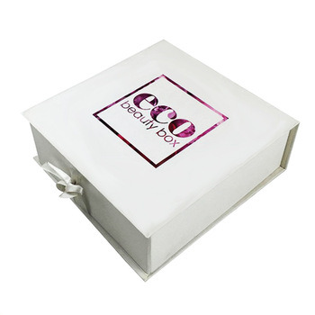 Customized Luxury Flat Folding Gift Box with Ribbon Closure pictures & photos