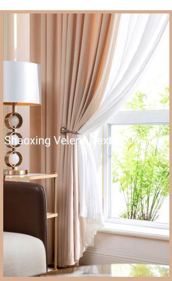 China Manufacture Soft Handfeeling Cushion Holland Velvet Plain Upholstery Furniture Curtain Fabric Home Textile Fabric
