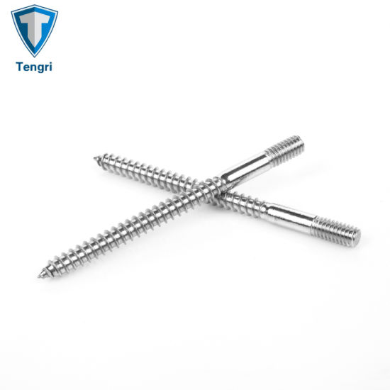 "3//8/"" diameter X 1-3//4/"" long DOUBLE END STUD fine and coarse tread screw bolt"