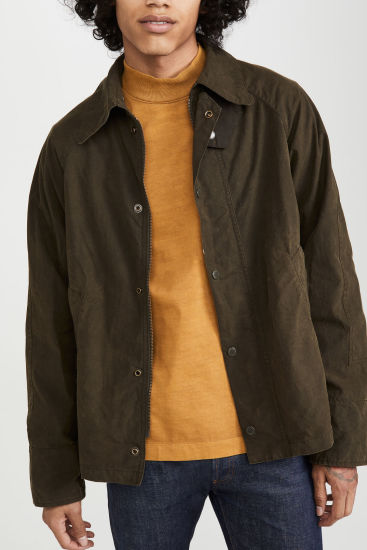 Wholesale Custom Fashion Mens Jackets Autumn Thin MD-Long Jackets for Men 100%Cotton
