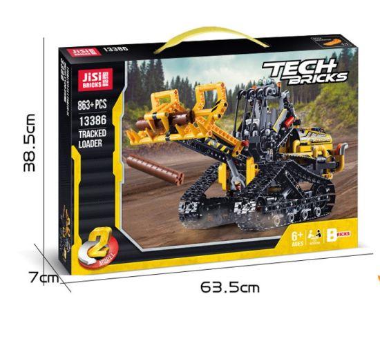 Hot Sale DIY Toys ABS Material Fork Lift Buiding Blocks Plastic Excavator DIY Toys