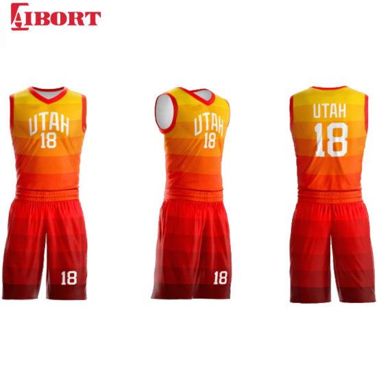 Aibort 2020 Wholesale Custom Basketball Apparel Latest Basketball Jersey and Shorts (J-BSK006 (2))