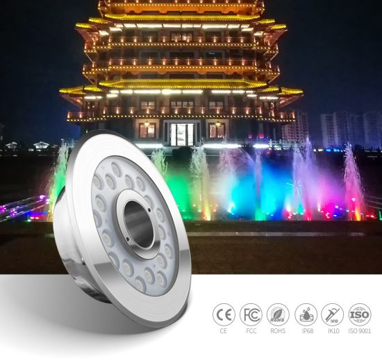 IP68 Waterproof Stainless Steel 316L DC24V Low Voltage LED Light Underwater Fountain Lights LED Light