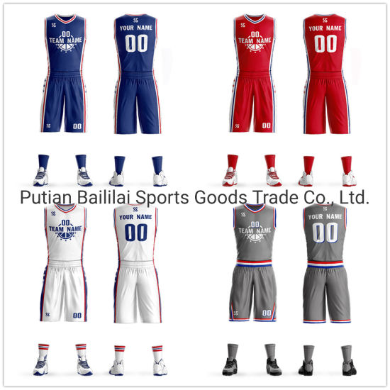 Wholesale New Custom Basketball Training Shirt Jersey Uniform Sportswear