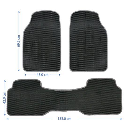 New Style Hot Sale 3PCS Full Sets Auto EVA Car Floor Mats