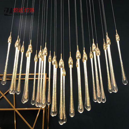 Hotel Lobby Project Pendant Lamp Bubble Glass Drop Lighting Aluminum Creative Chandelier