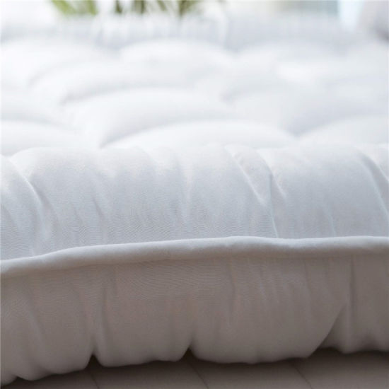 "4/"" EXTRA DEEP ANTI-BACTERIAL BAMBOO MICROFIBRE DOWN MATTRESS TOPPER ENHANCER"