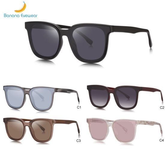 High Quality Rectangle Overszied Stylish Women Tr90 Sunglasses with Ready Goods pictures & photos