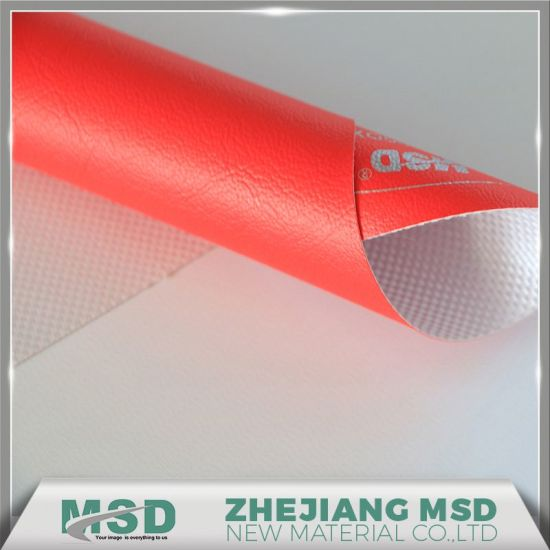 PVC Coated Artificial Leather Fabric for Boxing Bag