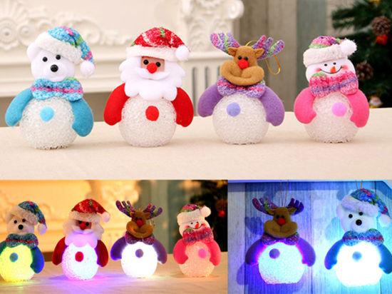 Popular Christmas Toys : China latest design popular christmas doll toys with light