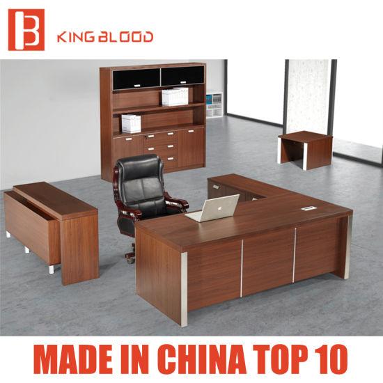 Modern Melamine Executive Furniture MDF Wooden L Shape Antique Style  Computer Office Desk - China Modern Melamine Executive Furniture MDF Wooden L Shape Antique