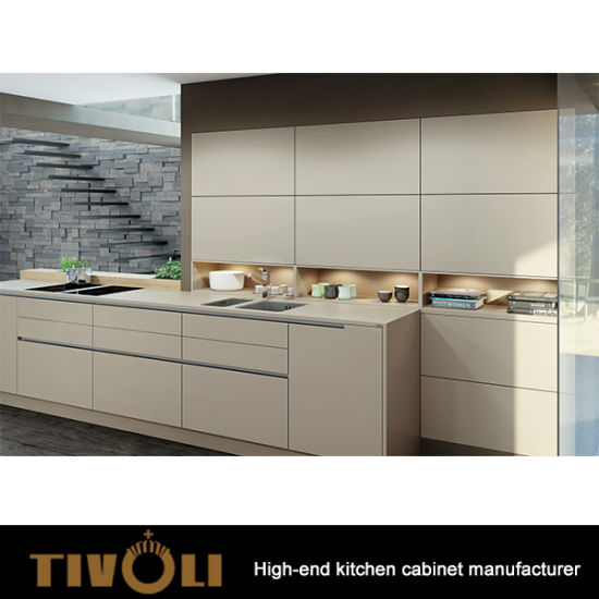 Fashion Push Open Modern Kitchen Cabinets With High Quality Hardware TV 0188