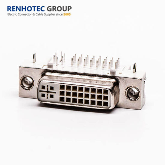 24+5 DVI Connector Female Cable Connector Double Port