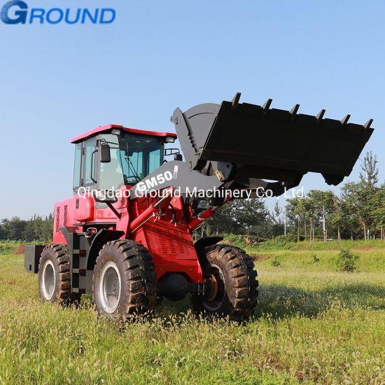 5ton bucket mini wheel loader , construction loader with multifunctional usage