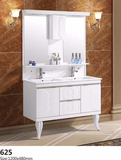 New Design Double Basin of Bathroom Cabinet Furniture with Good Price