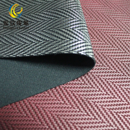 Top Quality Fabric Embossed PVC Leather for Decoration