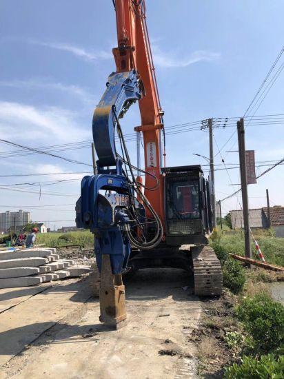 China Mini Excavator Sheet Vibra Piling Hammer Equipment