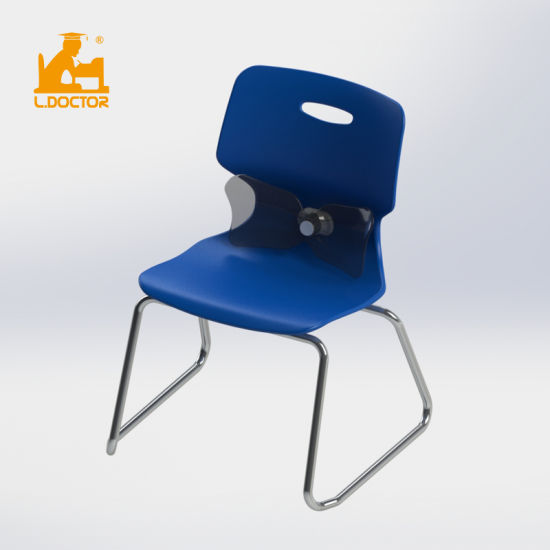 New Design Plastic University Student Chair with Backrest pictures & photos