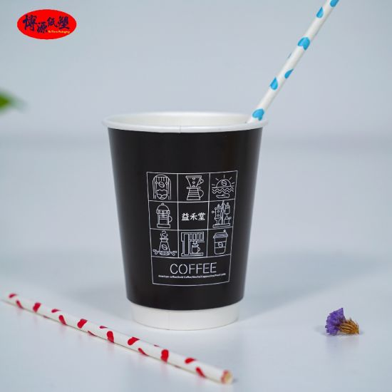 Custom Logo Printing Disposable Paper Cup Single Wall Cups/ Hollowed Cups/ Corrugate Cups for Hot Beverage