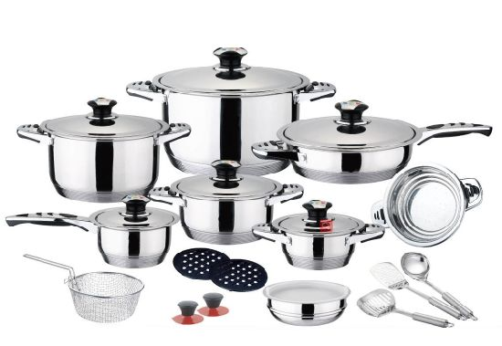 China 24pcs Cooking Ware Set Kitchen Utensils Stainless Steel