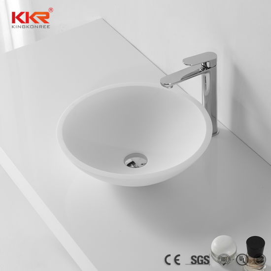 China Small Size Sanitary Ware Solid Surface Bathroom Wash Sink