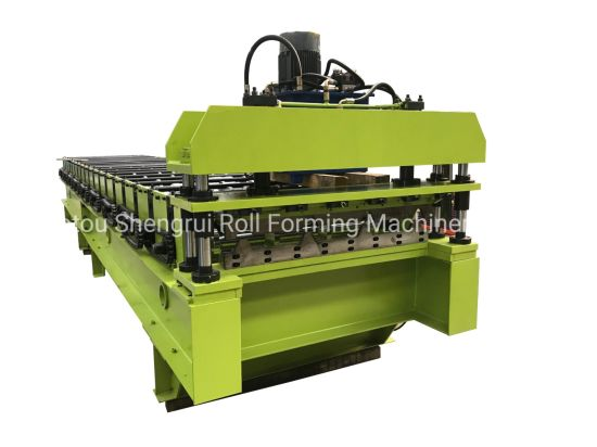 Low Cost Cold Metal PPGI Coils Trapezoidal Ibr Roofing Sheets Roof Panel Wall Sheets Double Deck Roll Forming Machine with CE ISO Certification