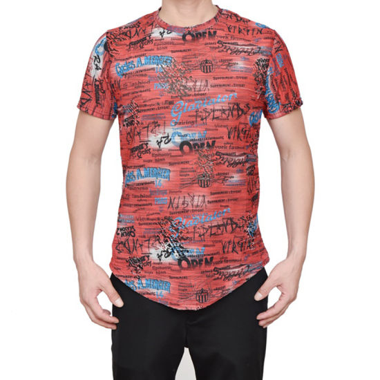 80c1910f China Manufacturer Wholesale Men′s Casual O Neck Curve Him T-Shirt ...