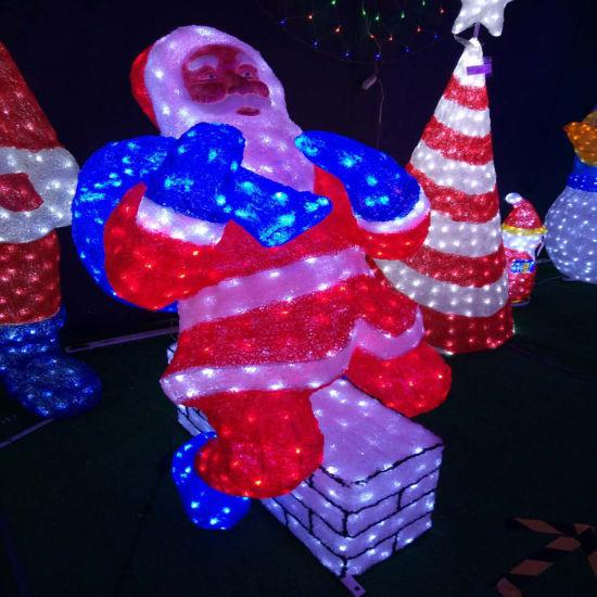 LED Christmas Decoration Santa Claus Sculpture Decoration Light