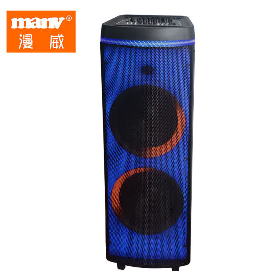 Active Big Bluetooth Speaker Dual 12 Inch Wireless Microphone System