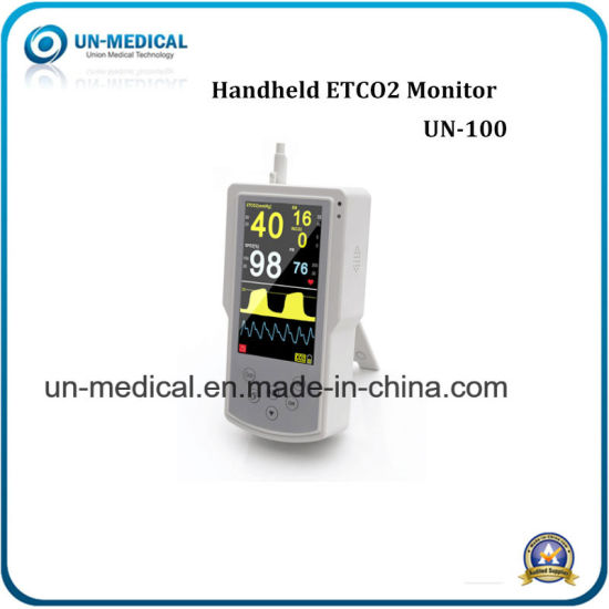 China Handheld portable Veterinary Capnograph Monitor Etco2+