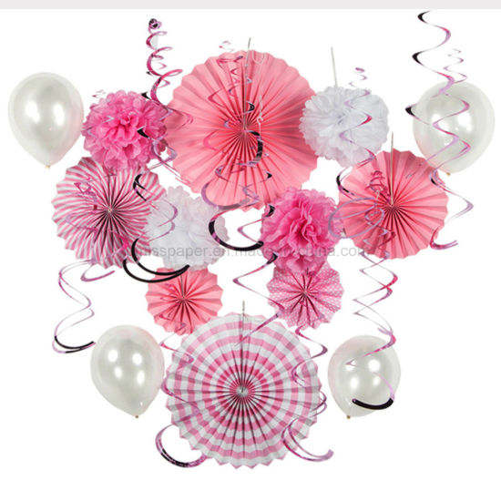China Umiss Paper Birthday Wedding Summer Pink Party Decorations For