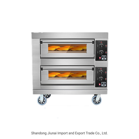 2 Deck 2 Trays Electric Baking Oven Deck Oven Baking Machine Commercial Bakery Equipment Pizza Oven Bread Oven