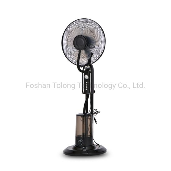 16 Inch Wholesale Powerful Outdoor Industrial Air Cooling Electric Mist Fan with Water Spray Factory Stand Fan